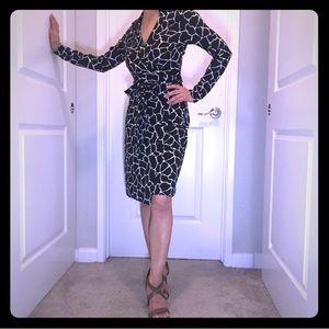 NWT Diane von Furstenberg Giraffe-Print Dress